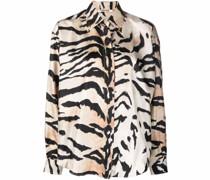 Seidenhemd mit Tigerstreifen