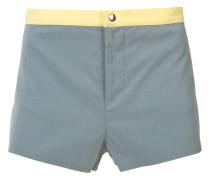 Shorts mit Kontrastbund