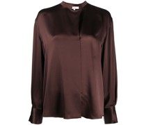 relaxed satin blouse