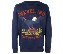 Besticktes Sweatshirt mit Adlermotiv