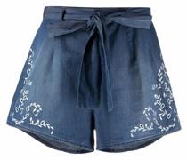 Bestickte Jeans-Shorts
