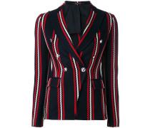 stripe print blazer
