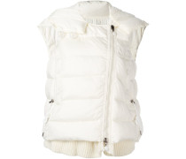 padded layer effect hooded gilet