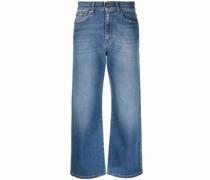 P.A.R.O.S.H. Gerade Cropped-Jeans