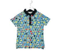 Poloshirt mit Glühbirnen-Print