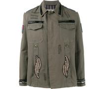 MilitaryJacke mit PerlenPatches