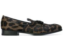 Loafer mit Leoparden-Print