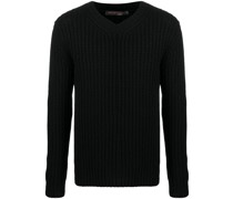 long-sleeve fitted cashmere jumper