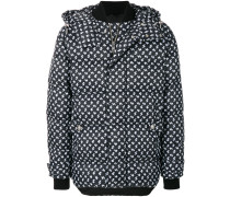 patterned puffer jacket