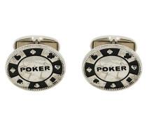 Manschettenknöpfe mit 'Poker'-Prägung