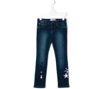Jeans mit Paillettenstickerei