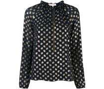 Langärmelige Bluse mit gepunktetem Design