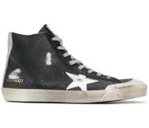 High-Top-Sneakers mit Stern-Print