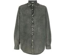 acid wash long-sleeve denim shirt