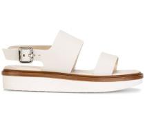 Sandalen mit Kontrastsohle