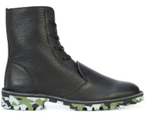 camouflage lace up boots