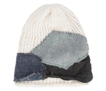 patched knit beanie