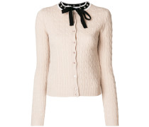 bow knitted cardigan