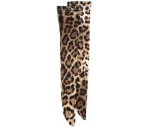 Kniestrümpfe mit Leopardenmuster - women
