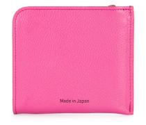 corner zip logo wallet