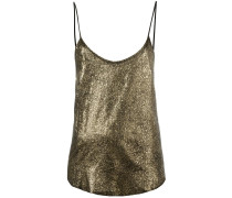 Camisole-Seidentop im Metallic-Look