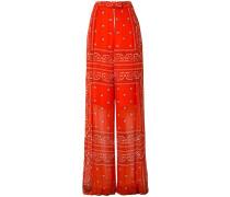 Weite Hose mit Bandana-Print