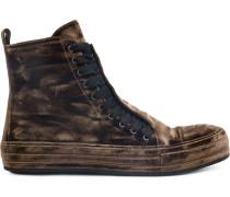 High-Top-Sneakers aus Samt