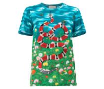 """T-Shirt mit """"Himmel und Garten""""-Print"""