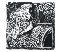 Seidenschal mit Animal-Print