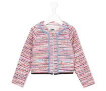 Bouclé-Jacke mit Reißverschlusstaschen