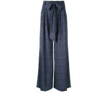 denim trousers - women - Polyester/Elastan - 4