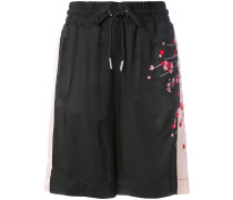 embroidered blossom track shorts