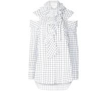 Bluse mit rechteckigem Print