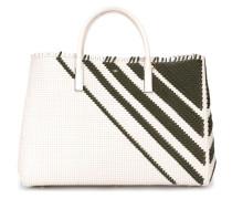 weavebasket pattern stripe tote