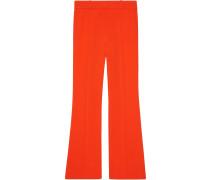 Viscose bootcut trousers