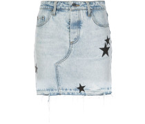 Jeansrock mit Stern-Patches