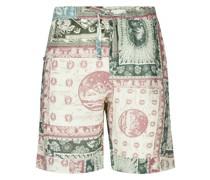 Shorts mit Lamba-Print