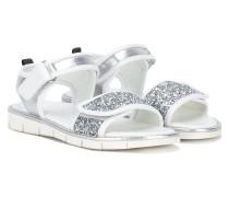 Sandalen mit Paillettenbesatz