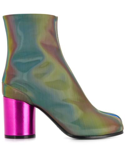 Tabi-Stiefel mit Metallic-Effekt