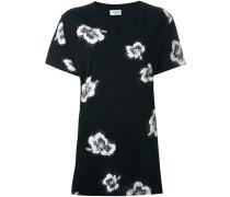 T-Shirt mit Hibiskus-Print