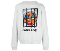 "Sweatshirt mit ""Can I Live""-Print"