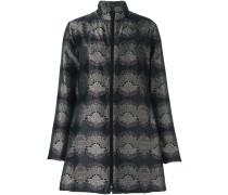 Ausgestellter Mantel mit Print