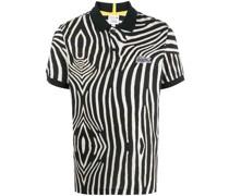 Poloshirt mit Zebra-Print
