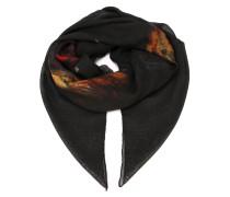 Schal aus Kaschmir mit Rottweiler-Print