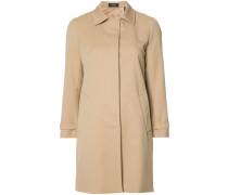Einreihiger Mantel - women - Polyester/Viskose