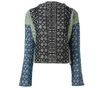 Jacquard-Pullover in Colour-Block-Optik