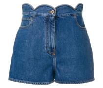 Jeans-Shorts mit gewelltem Bund