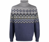 Intarsien-Pullover mit Fair-Isle-Muster