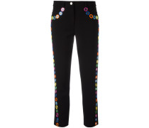 mirror embroidered cropped trousers