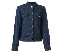 - Jeansjacke mit goldfarbenen Knöpfen - women